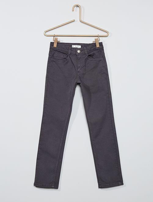 Pantaloni slim in twill eco-sostenibili                                                                                                                 GRIGIO