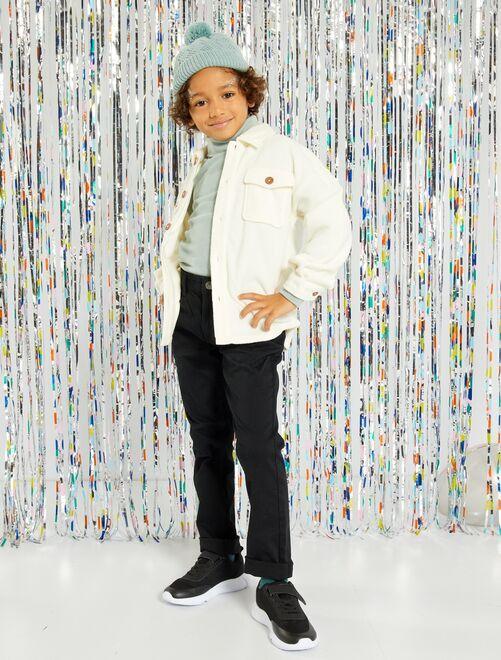 Pantaloni slim in twill eco-sostenibili                                                                                                                 nero