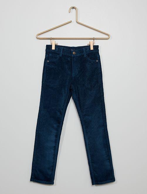 Pantaloni slim in velluto                                                                                         BLU