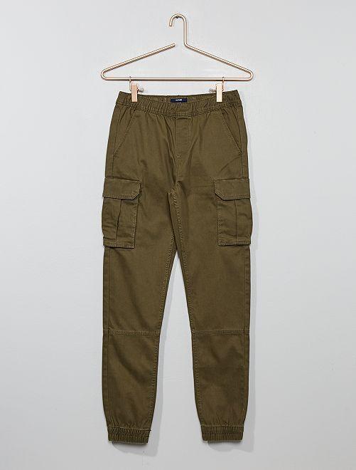 Pantaloni slim                     KAKI