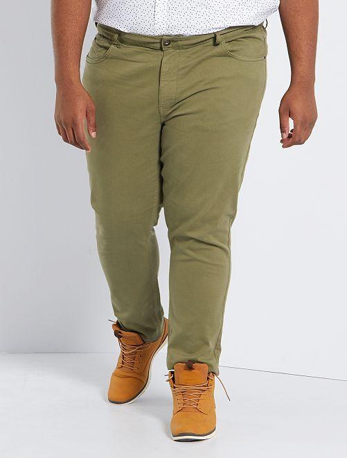 Pantaloni slim L30                                                                             verde licheno