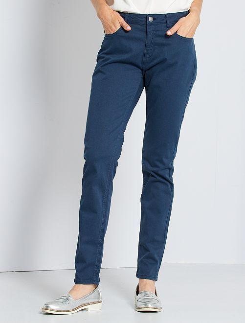 Pantaloni slim multitasche                                                                                                                                         blu