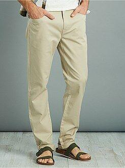 Pantaloni slim - Pantaloni slim piqué di cotone stretch