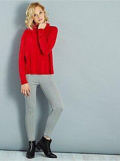 Pantaloni slim - Pantaloni slim stampa effetto lana