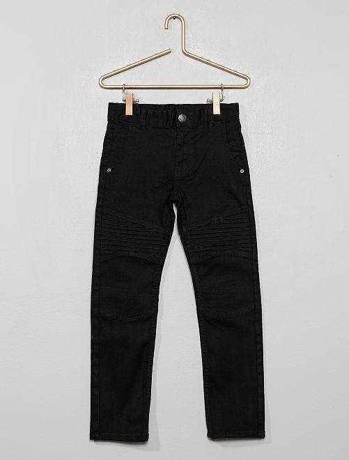 Pantaloni slim stile 'biker'                     nero