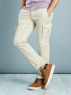 Uomo dalla S alla XXL Pantaloni slim stile cargo