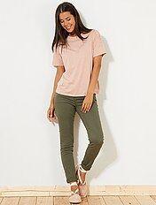 Pantaloni slim stretch 5 tasche