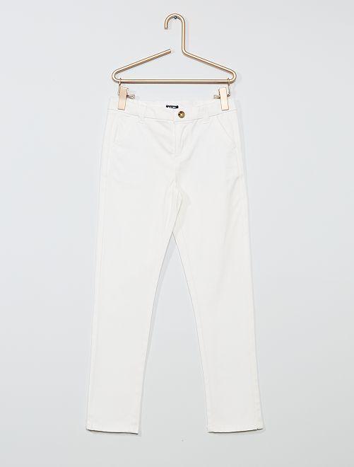 Pantaloni slim stretch                                                                 bianco neve