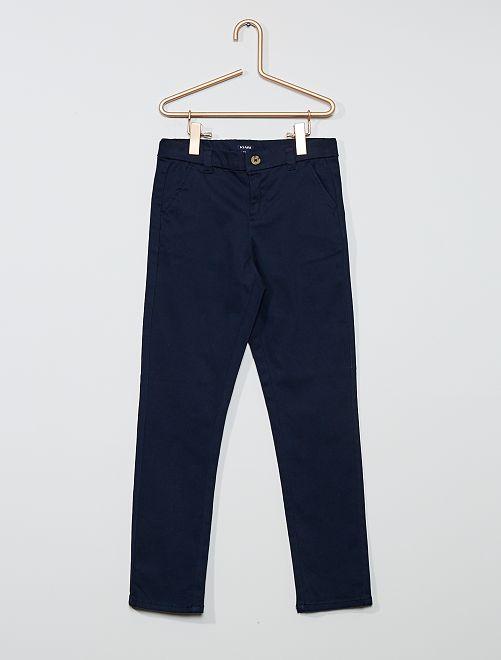 Pantaloni slim stretch                                                                 blu