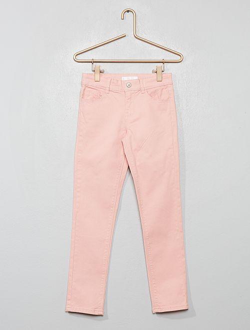 Pantaloni slim tinta uni                                 rosa