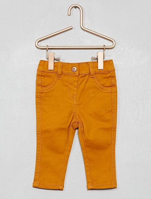 Pantaloni slim twill stretch                                                         GIALLO