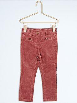 Pantaloni slim velluto
