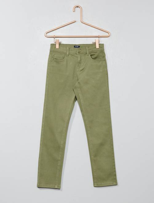 Pantaloni slim                                                                                                                                         verde licheno Infanzia bambina