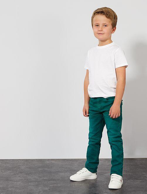 Pantaloni slim                                                                                                                                 verde scuro