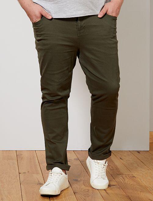 Pantaloni slim                                                         verde selva