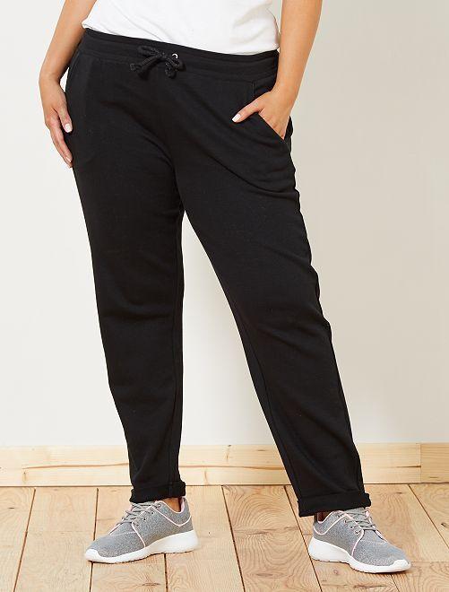Pantaloni sport dettagli brillanti                                                     nero