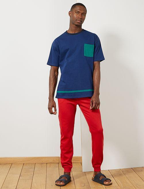 Pantaloni sport felpati                                                                                                     ROSSO