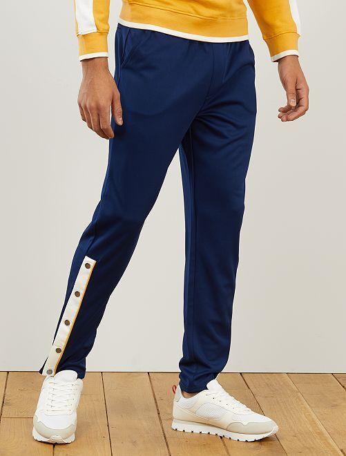 Pantaloni sport stile vintage                                         blu scuro