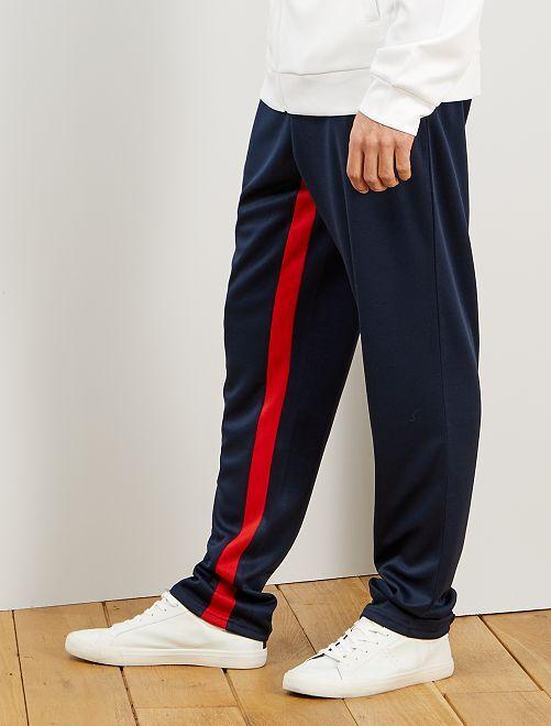 Pantaloni sport stile vintage                             BLU