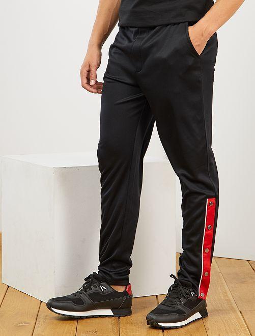 Pantaloni sport stile vintage                                         nero
