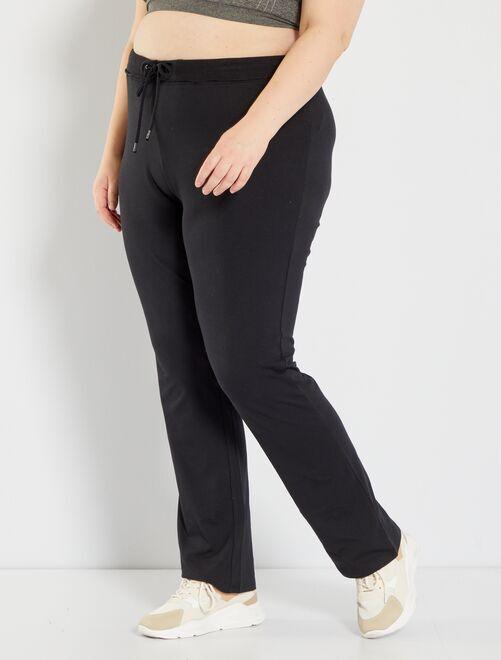 Pantaloni sport tessuto felpato                             nero