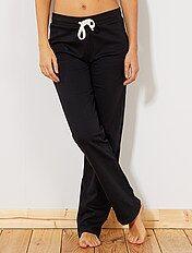 Pantaloni sport tessuto felpato sottile