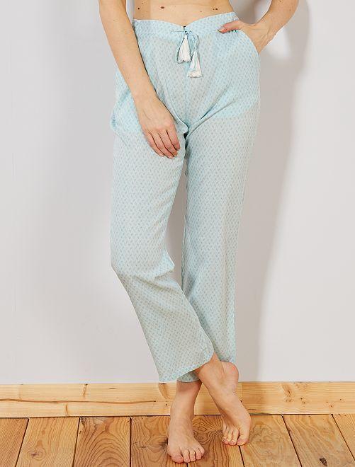 Pantaloni stampa viscosa                             BLU Intimo dalla s alla xxl