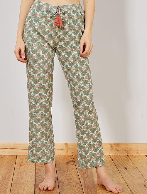 Pantaloni stampa viscosa                                         ROSA Intimo dalla s alla xxl