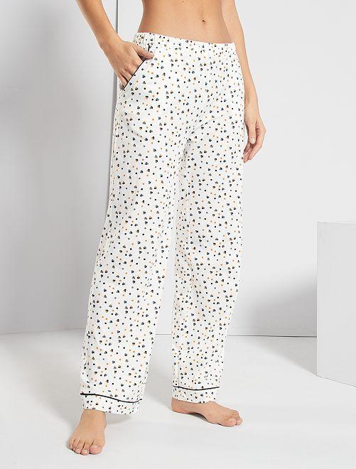 Pantaloni stampati                             BIANCO