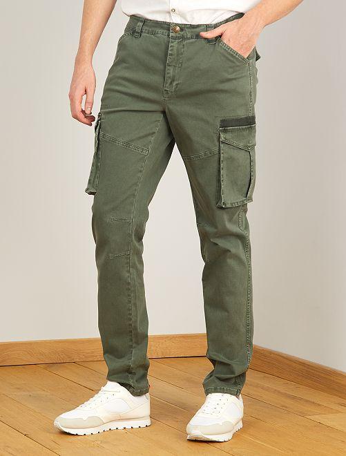 Pantaloni stile cargo L36 + 1 m 90                                         verde selva