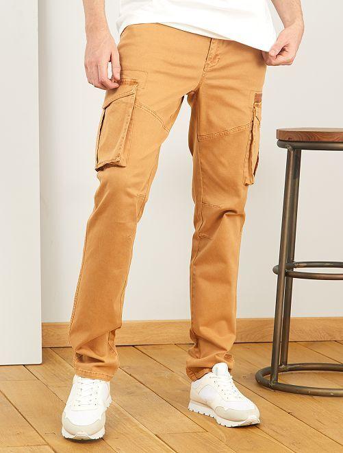 Pantaloni stile cargo L38 + 1 m 90                                         BEIGE