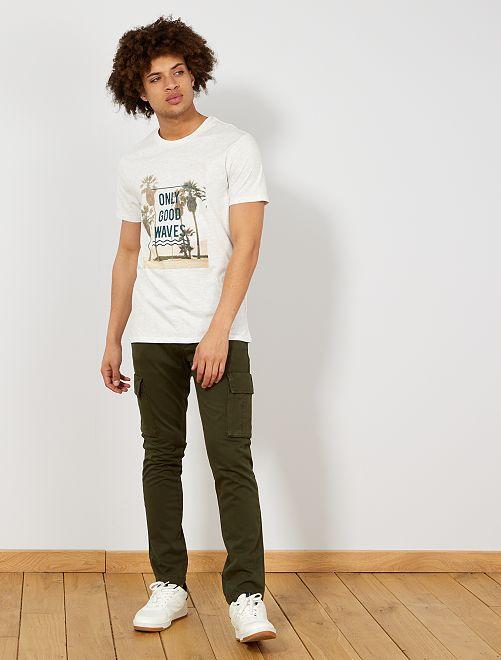 Pantaloni stile cargo                     verde selva Uomo
