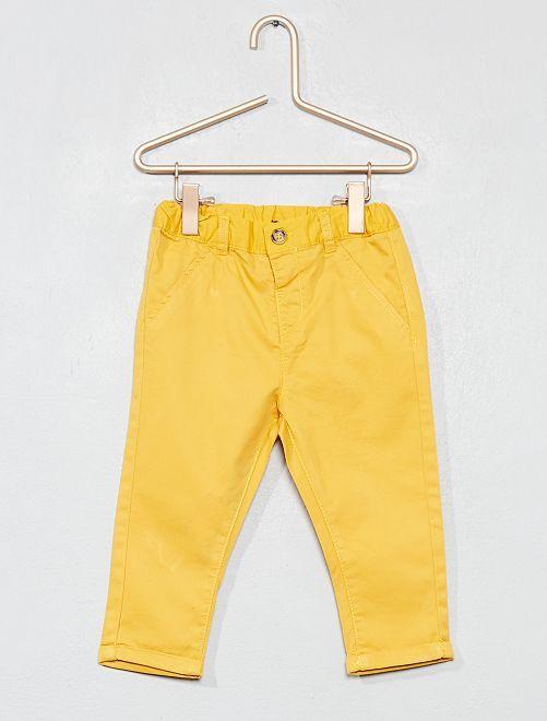 Pantaloni stile chino                                 GIALLO