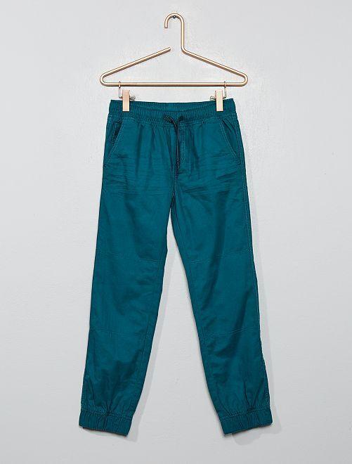 Pantaloni stile joggers                                                     verde scuro
