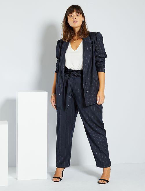Pantaloni stile tailleur                             BLU