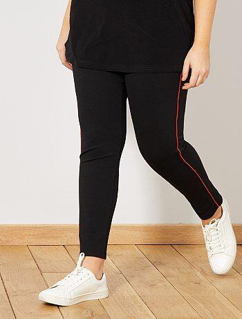 Pantaloni stretch strisce sottili sul lato - Kiabi
