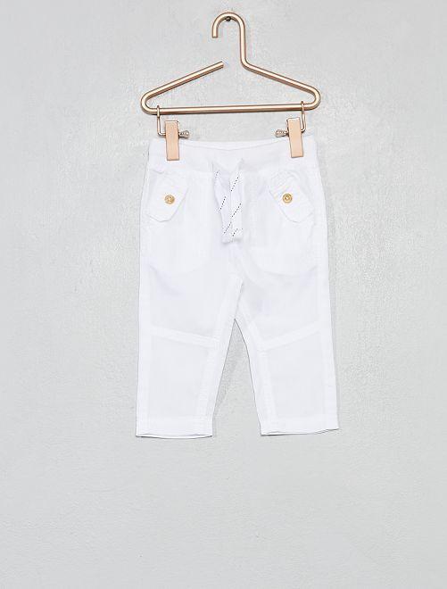 Pantaloni tasche abbottonate                                                                             bianco Neonato