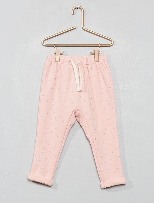 Pantaloni tessuto felpato foderato                                                                 ROSA