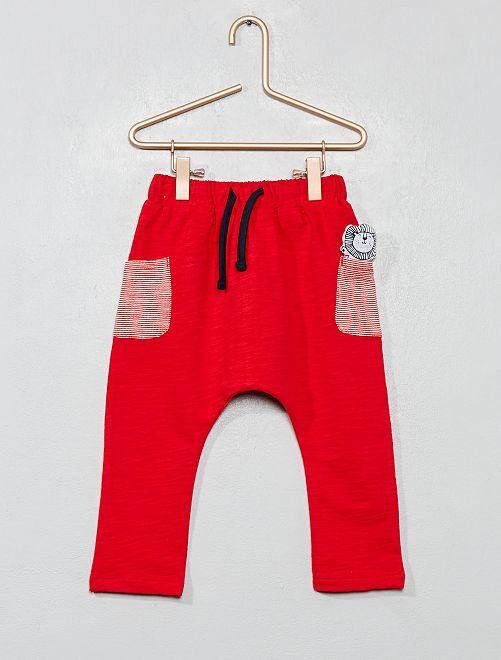 Pantaloni tessuto felpato                                                     GRIGIO Neonato