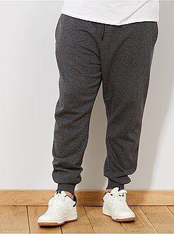 Taglie forti Uomo Pantaloni tessuto felpato