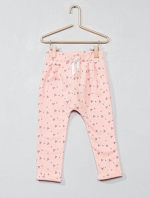 Pantaloni tessuto felpato stampato                     ROSA Neonata