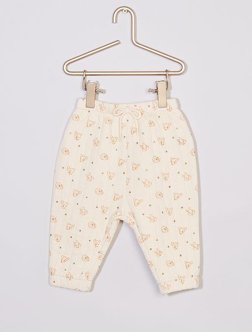 Pantaloni trapuntati 'Disney' eco-sostenibile                             BIANCO