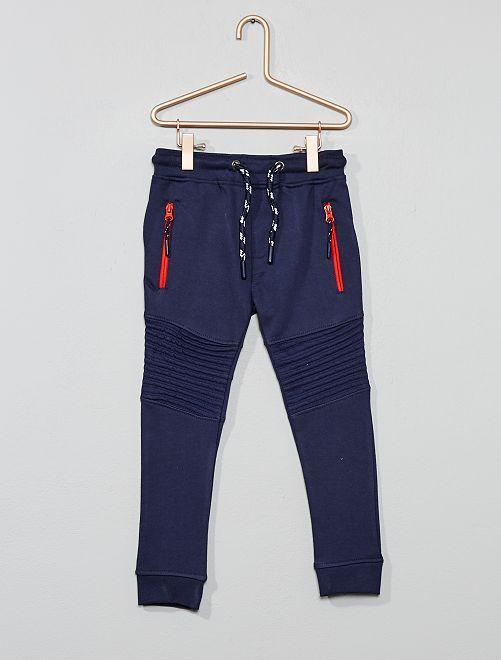 Pantaloni tuta dettagli motociclista                             blu marine Infanzia bambino