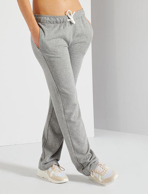 Pantaloni tuta felpati                                         GRIGIO