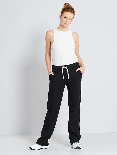 Pantaloni tuta felpati                                         nero