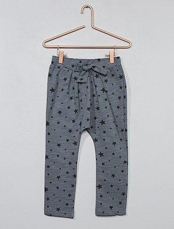 Pantaloni tuta felpati 'stelle' - Kiabi