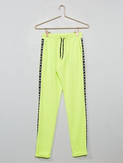 Pantaloni tuta fluorescenti con strisce                                                     GIALLO