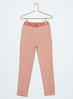 Pantaloni - Pantaloni tuta tessuto felpato luccicante