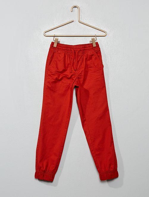 Pantaloni twill                                                                             arancio ketchup