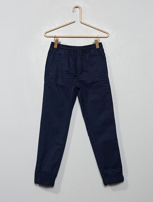 Pantaloni twill                                         blu